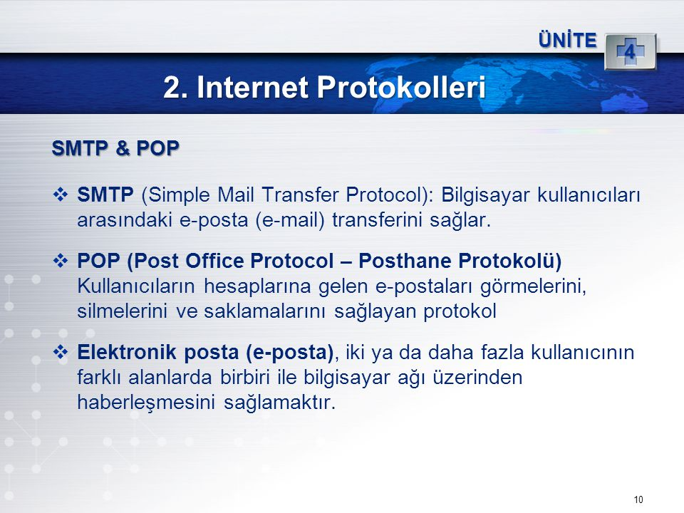 2. Internet Protokolleri