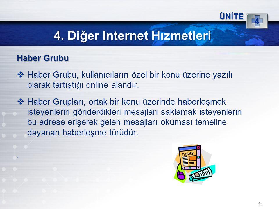 4. Diğer Internet Hızmetleri