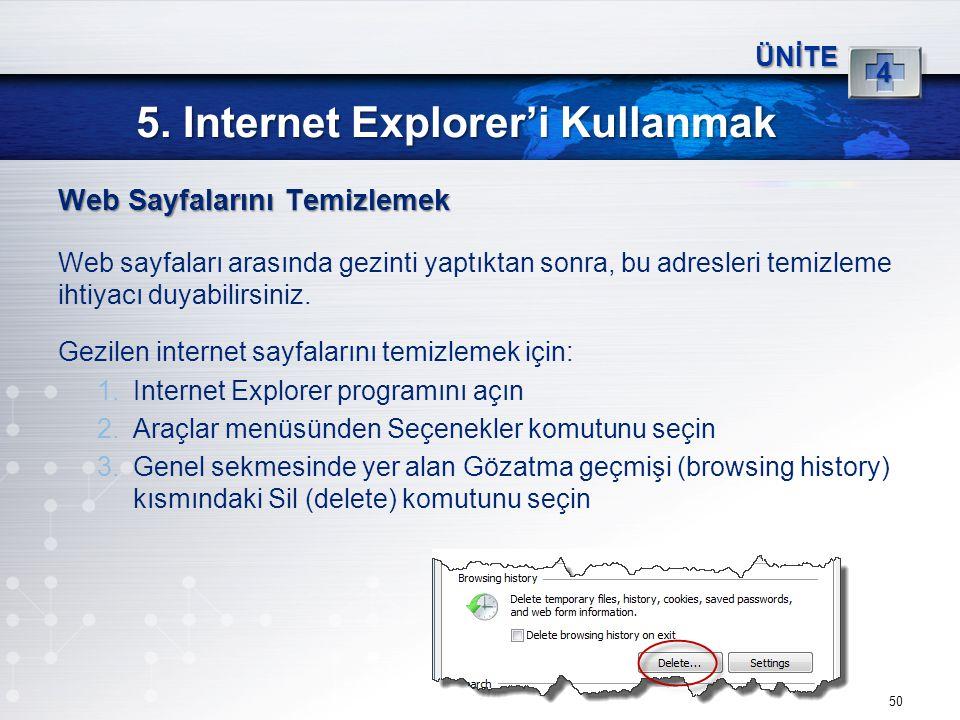 5. Internet Explorer'i Kullanmak
