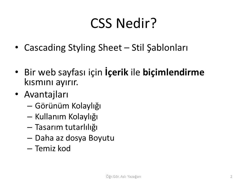 CSS Nedir Cascading Styling Sheet – Stil Şablonları