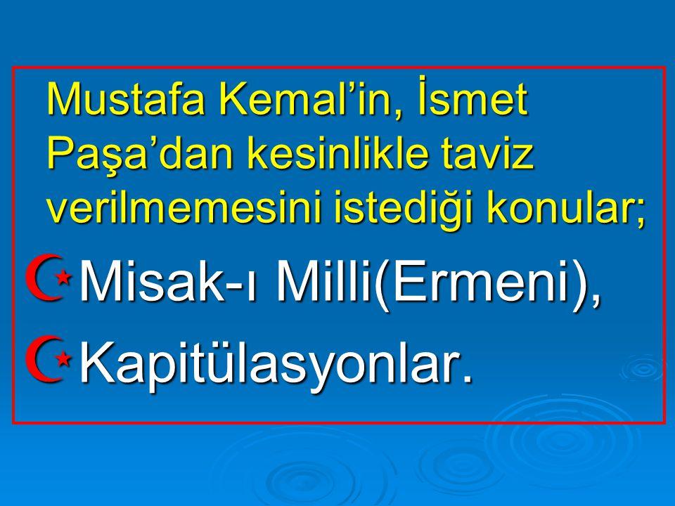 Misak-ı Milli(Ermeni), Kapitülasyonlar.
