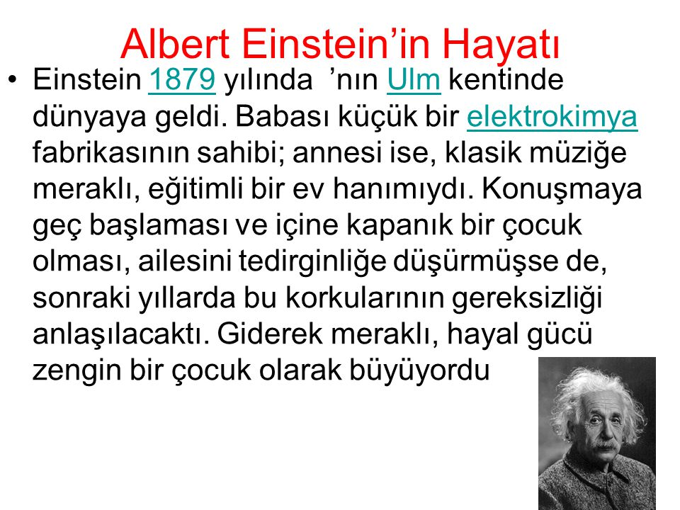 Albert Einstein'in Hayatı