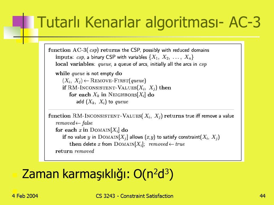 Tutarlı Kenarlar algoritması- AC-3