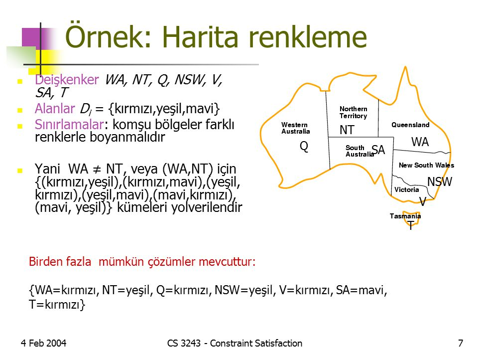 Örnek: Harita renkleme