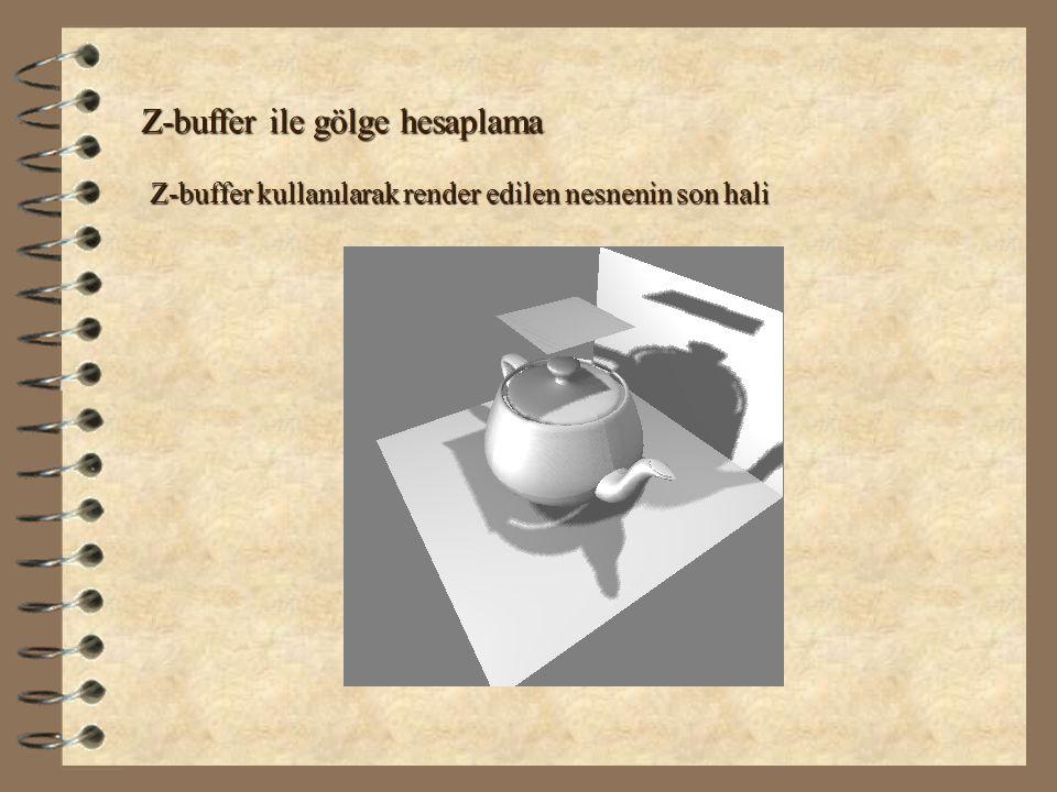 Z-buffer ile gölge hesaplama