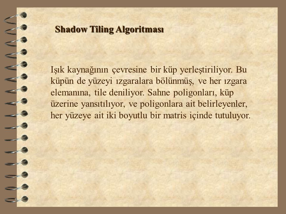 Shadow Tiling Algoritması