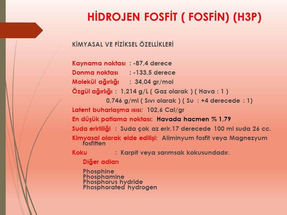 HİDROJEN FOSFİT ( FOSFİN) (H3P)