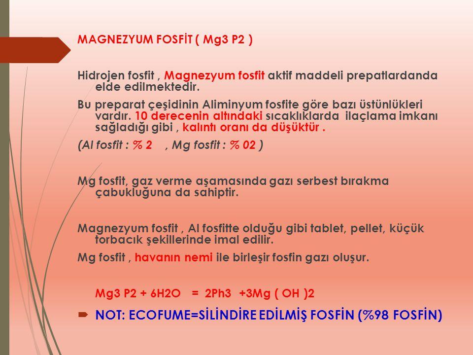 NOT: ECOFUME=SİLİNDİRE EDİLMİŞ FOSFİN (%98 FOSFİN)