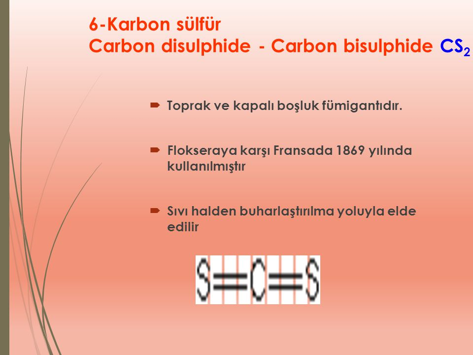 6-Karbon sülfür Carbon disulphide - Carbon bisulphide CS2