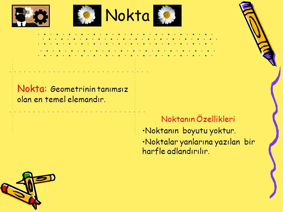 Nokta Nokta: Geometrinin tanımsız olan en temel elemandır.