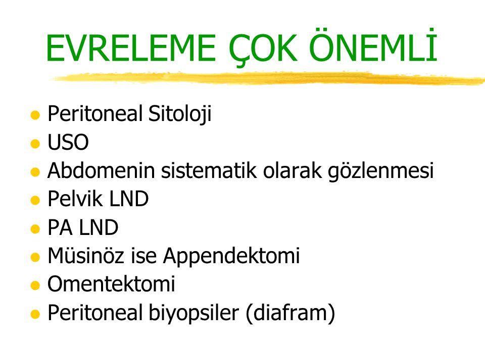EVRELEME ÇOK ÖNEMLİ Peritoneal Sitoloji USO