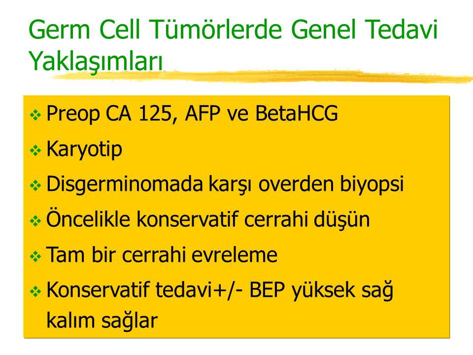 Germ Cell Tümörlerde Genel Tedavi Yaklaşımları