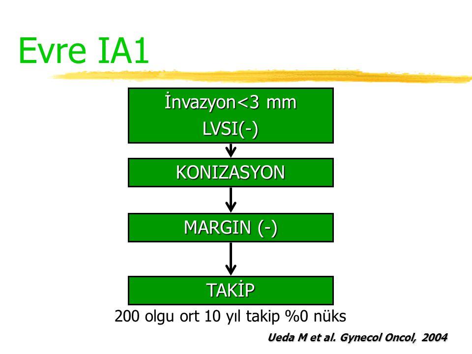 Evre IA1 İnvazyon<3 mm LVSI(-) KONIZASYON MARGIN (-) TAKİP