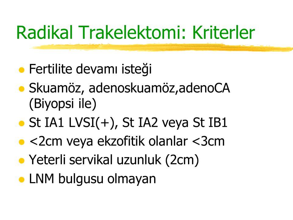 Radikal Trakelektomi: Kriterler