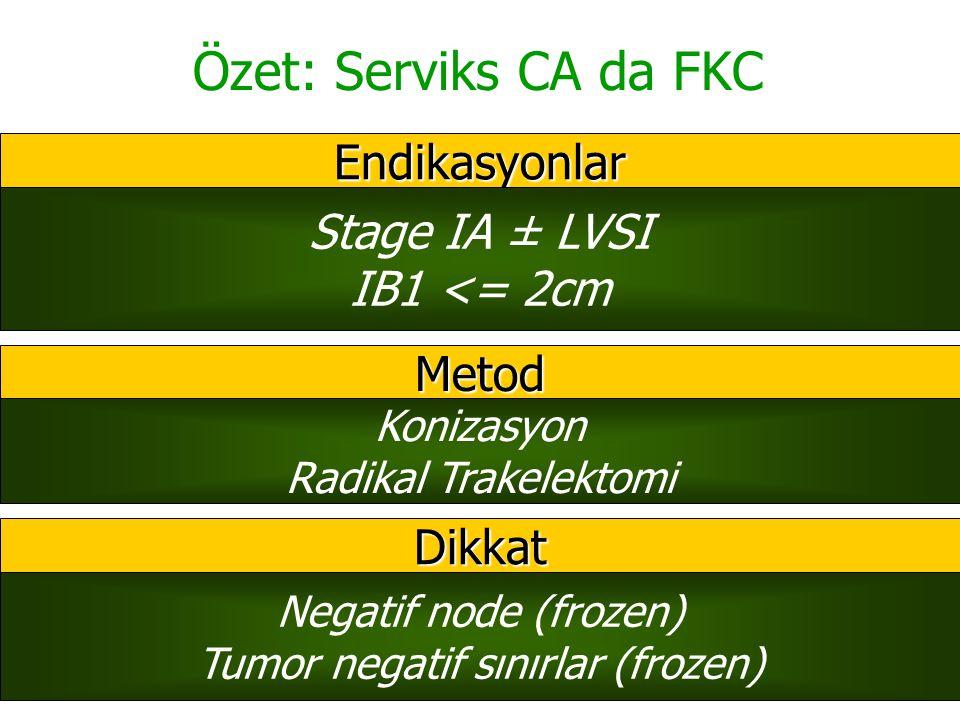Tumor negatif sınırlar (frozen)