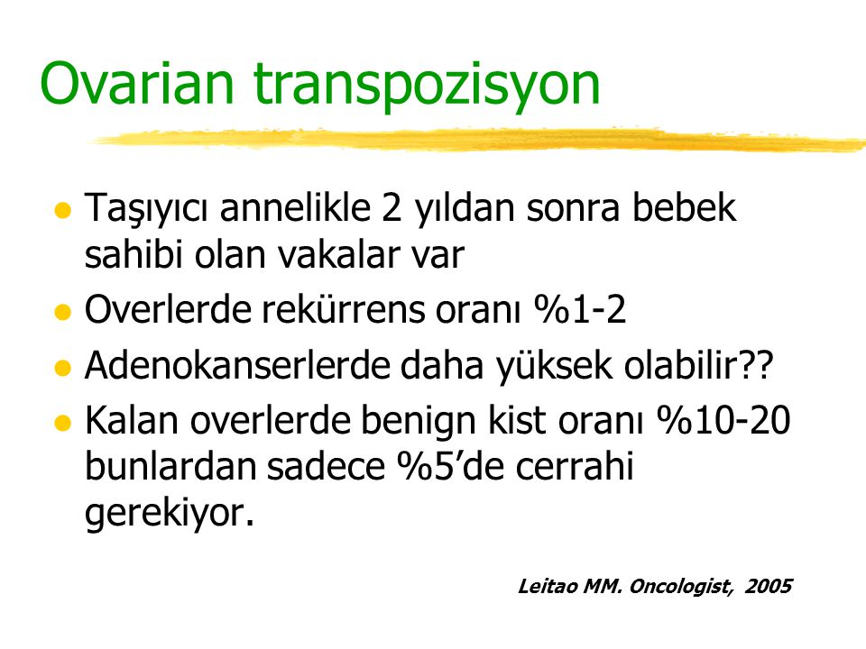 Ovarian transpozisyon