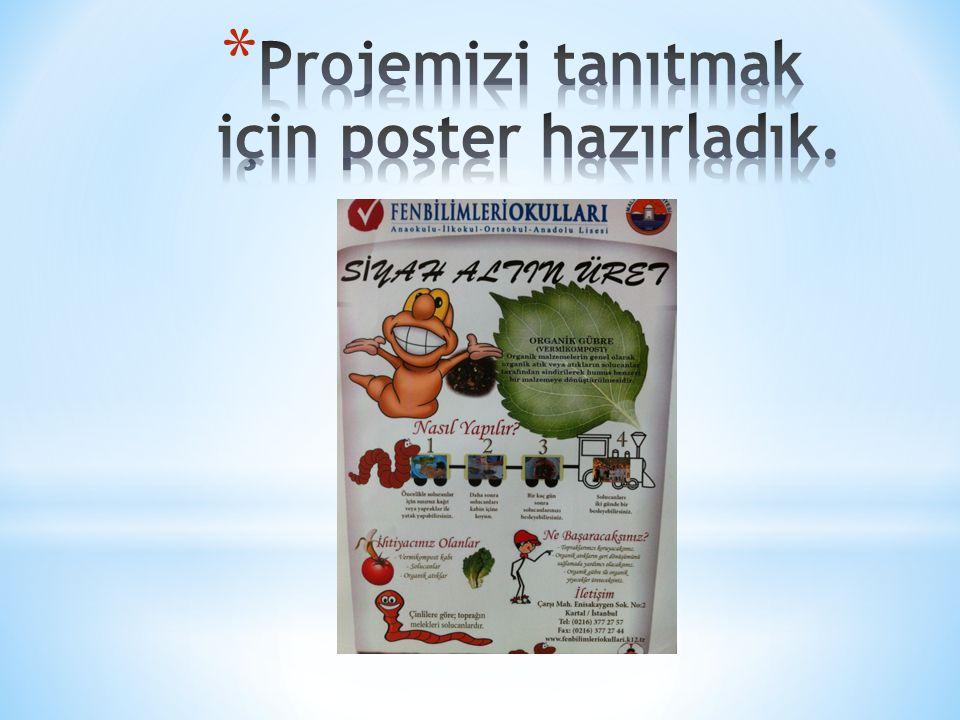Projemizi tanıtmak için poster hazırladık.