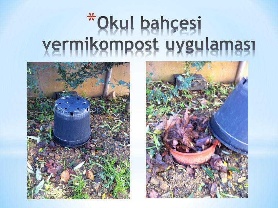 Okul bahçesi vermikompost uygulaması