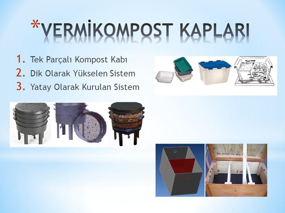 VERMİKOMPOST KAPLARI Tek Parçalı Kompost Kabı