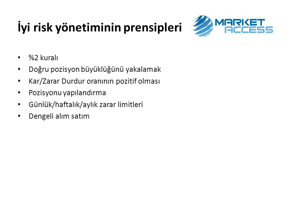 İyi risk yönetiminin prensipleri