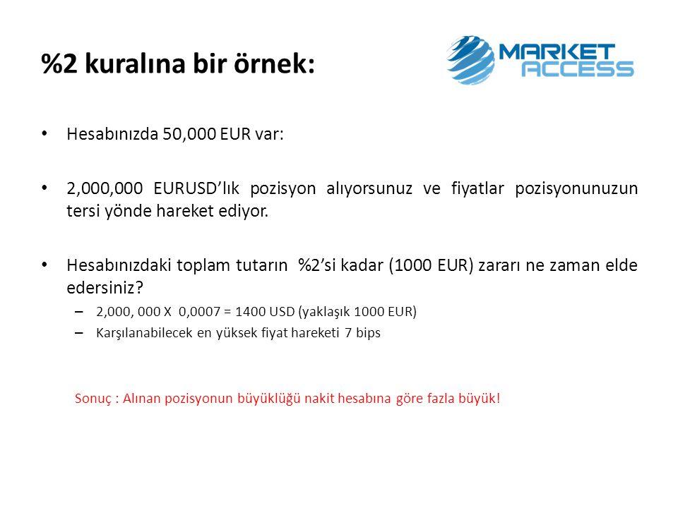 %2 kuralına bir örnek: Hesabınızda 50,000 EUR var: