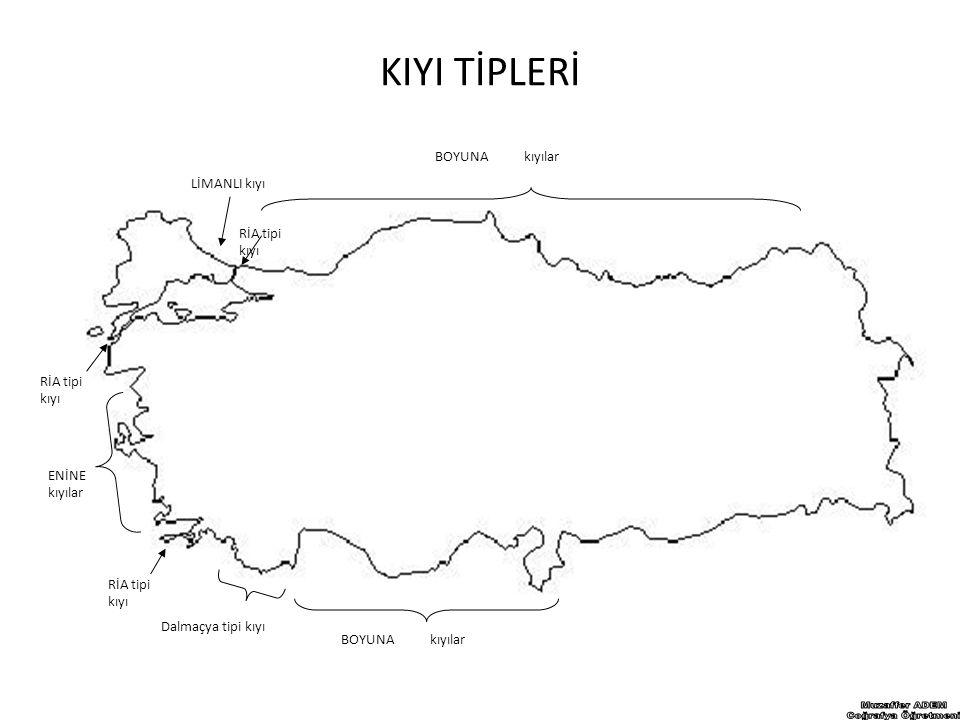 Muzaffer ADEM Coğrafya Öğretmeni KIYI TİPLERİ BOYUNA kıyılar