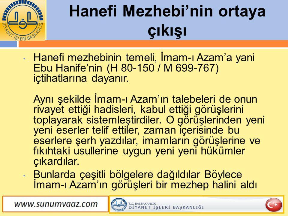 Hanefi Mezhebi'nin ortaya çıkışı
