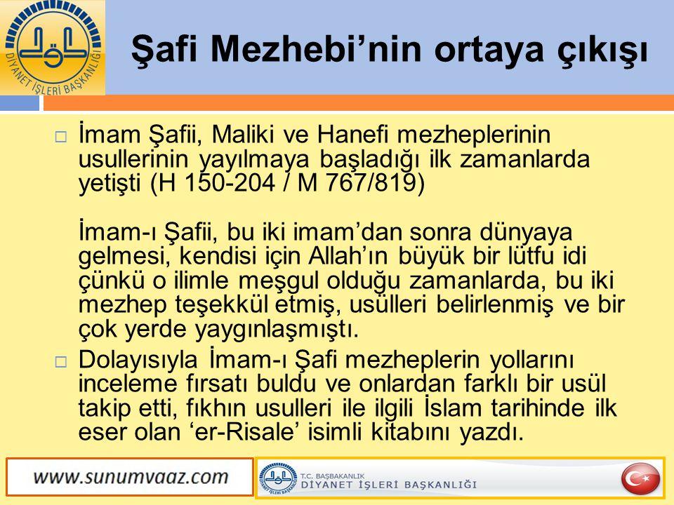 Şafi Mezhebi'nin ortaya çıkışı