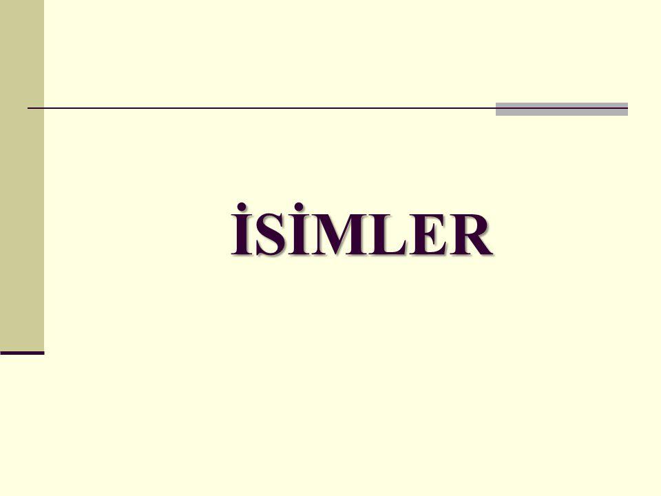 İSİMLER