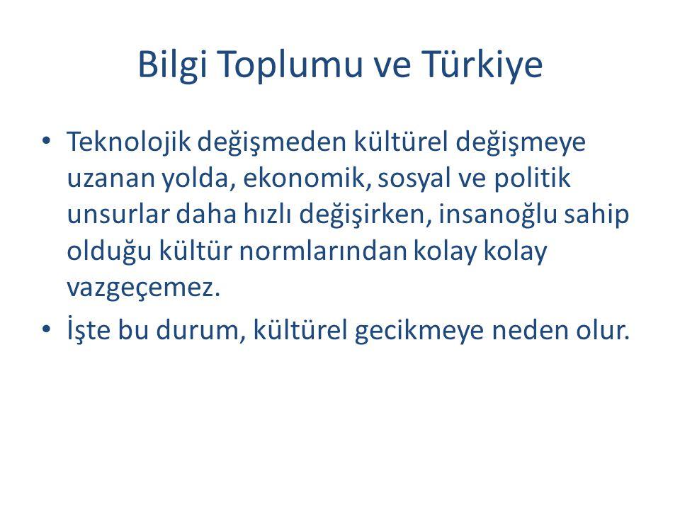 Bilgi Toplumu ve Türkiye