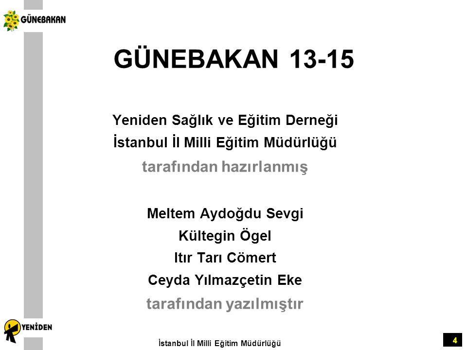 GÜNEBAKAN 13-15 tarafından hazırlanmış tarafından yazılmıştır