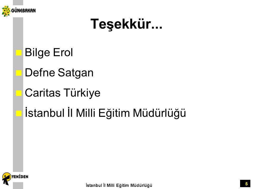 Teşekkür... Bilge Erol Defne Satgan Caritas Türkiye