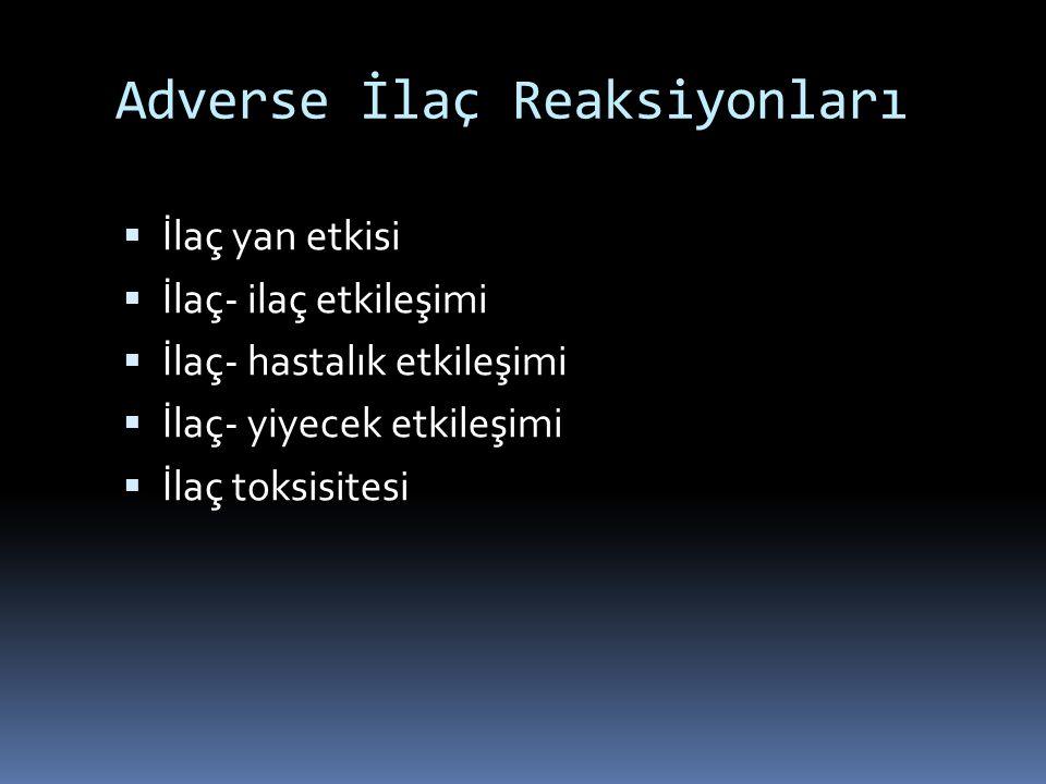Adverse İlaç Reaksiyonları