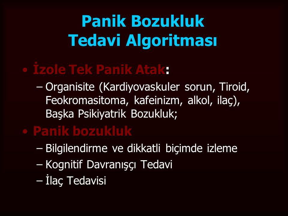 Panik Bozukluk Tedavi Algoritması