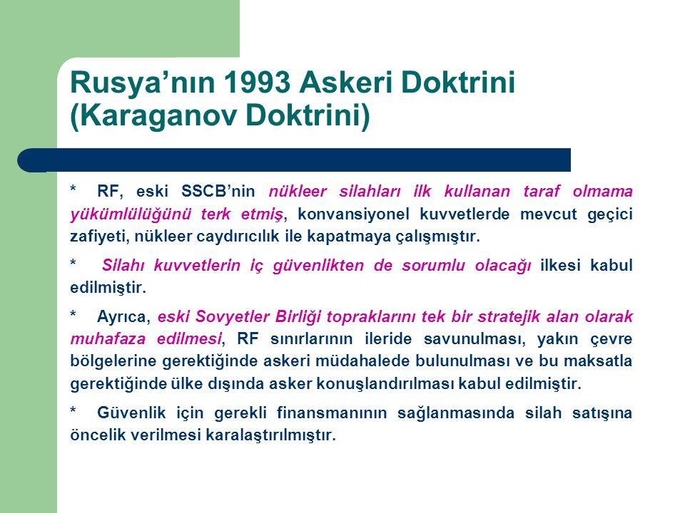 Rusya'nın 1993 Askeri Doktrini (Karaganov Doktrini)
