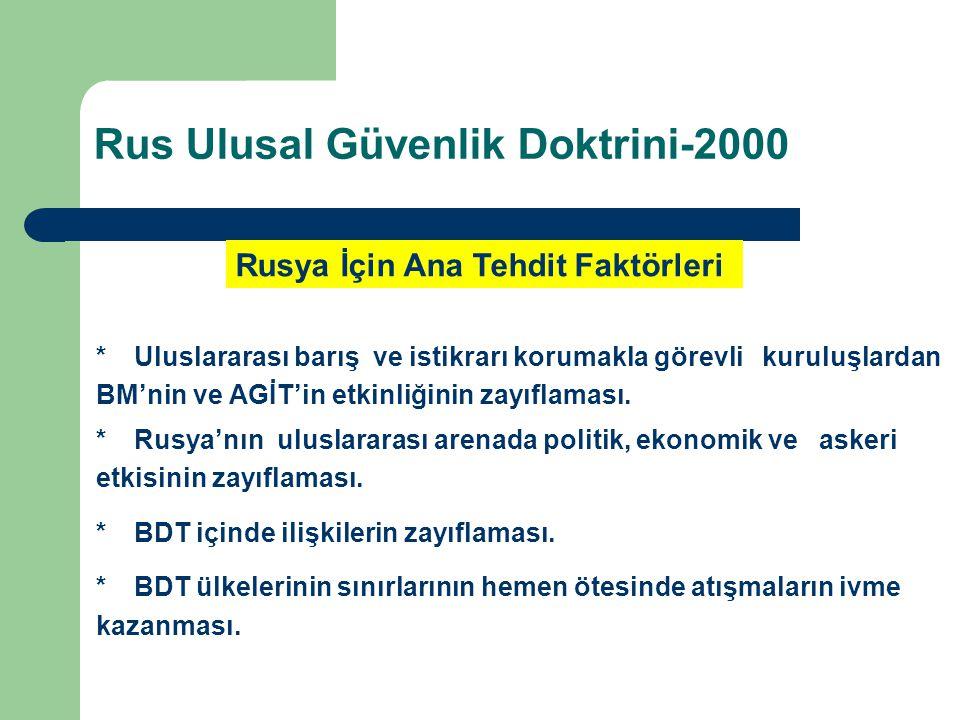 Rus Ulusal Güvenlik Doktrini-2000