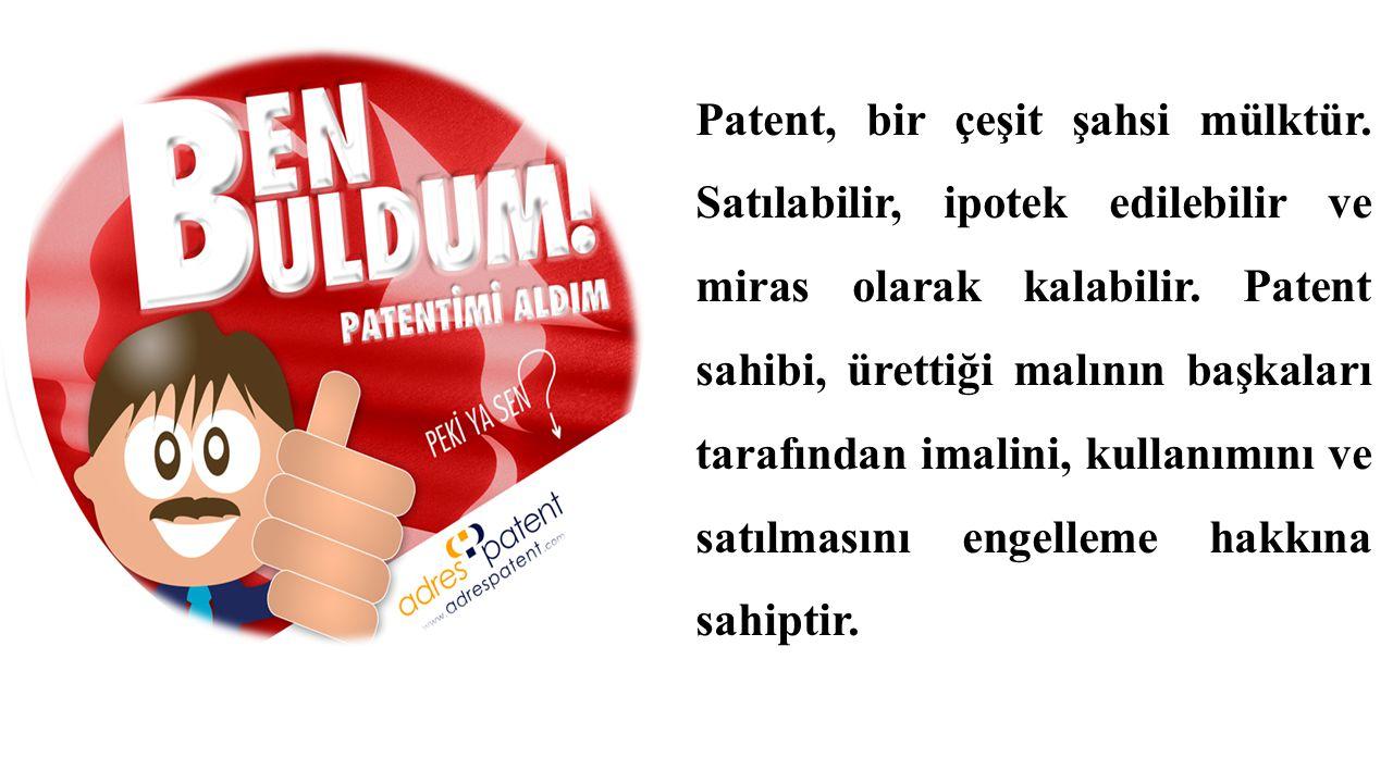 Patent, bir çeşit şahsi mülktür