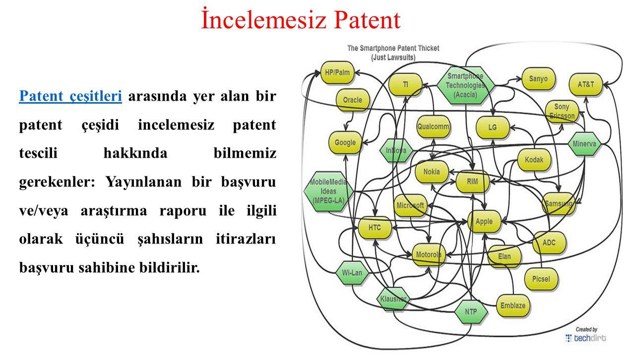 İncelemesiz Patent