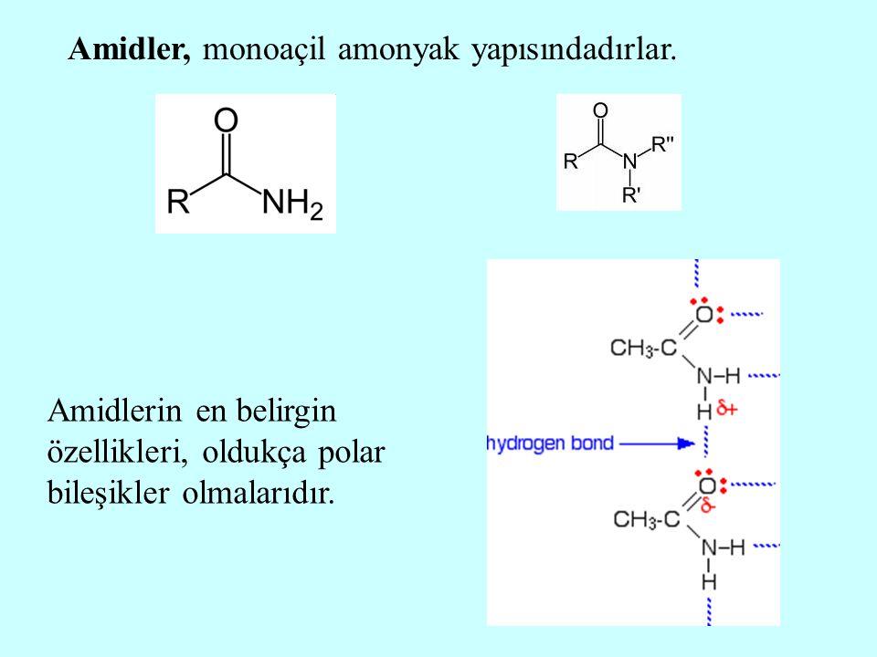 Amidler, monoaçil amonyak yapısındadırlar.