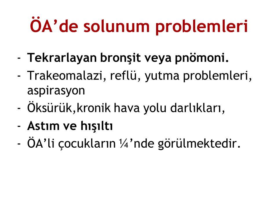 ÖA'de solunum problemleri