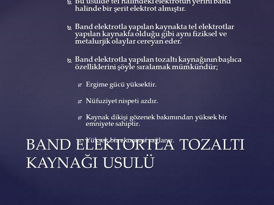 BAND ELEKTORTLA TOZALTI KAYNAĞI USULÜ