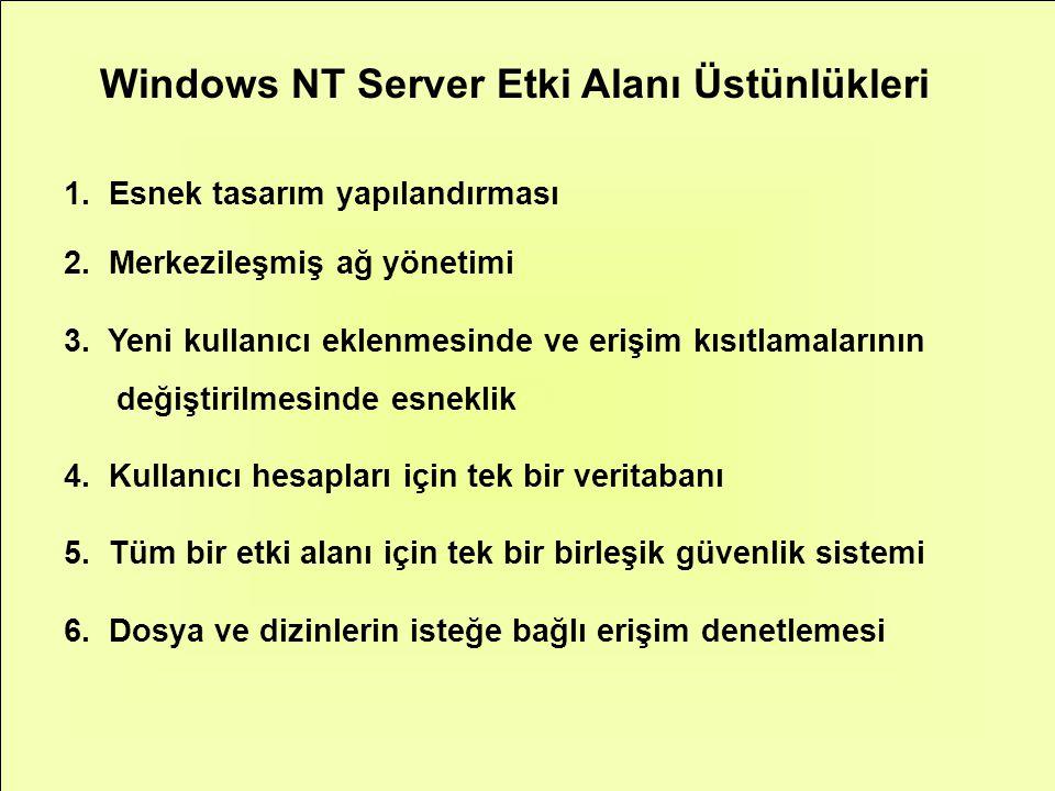 Windows NT Server Etki Alanı Üstünlükleri