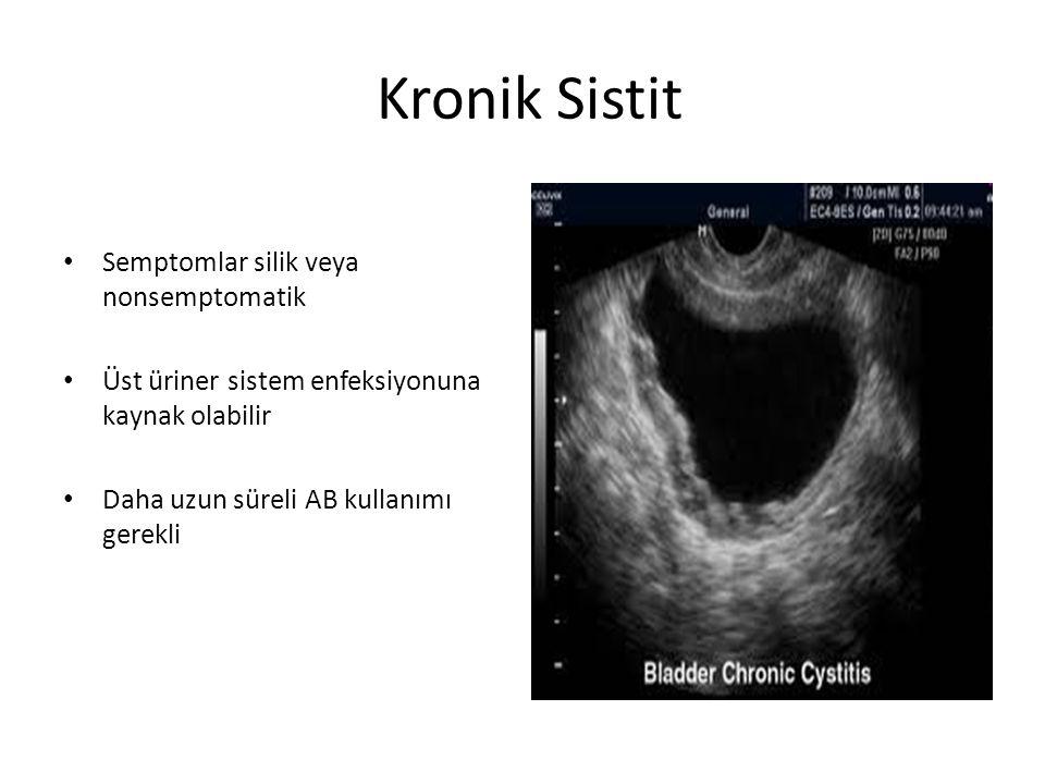 Kronik Sistit Semptomlar silik veya nonsemptomatik