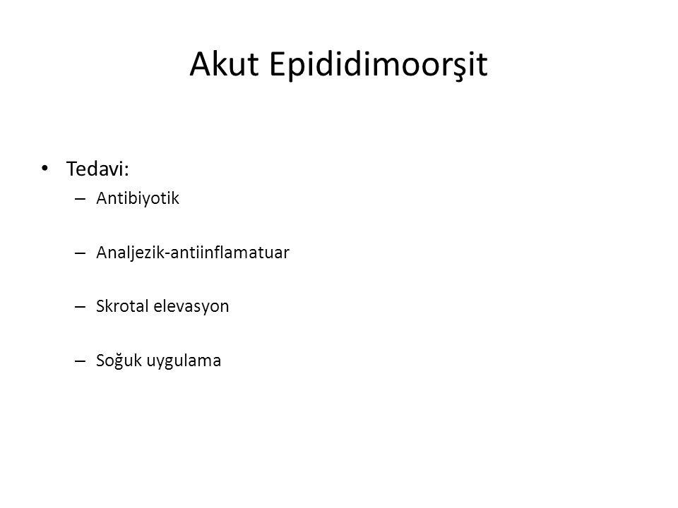Akut Epididimoorşit Tedavi: Antibiyotik Analjezik-antiinflamatuar