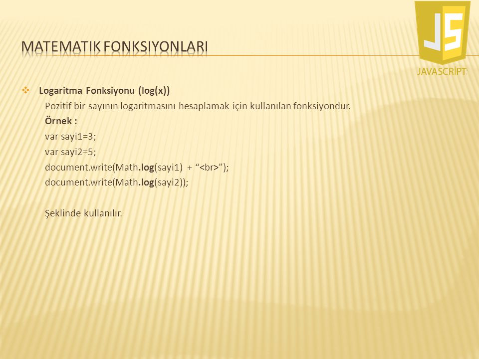 Matematik fonksiyonlarI