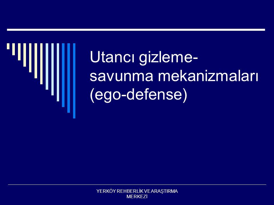 Utancı gizleme-savunma mekanizmaları (ego-defense)