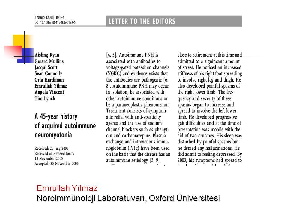Emrullah Yılmaz Nöroimmünoloji Laboratuvarı, Oxford Üniversitesi