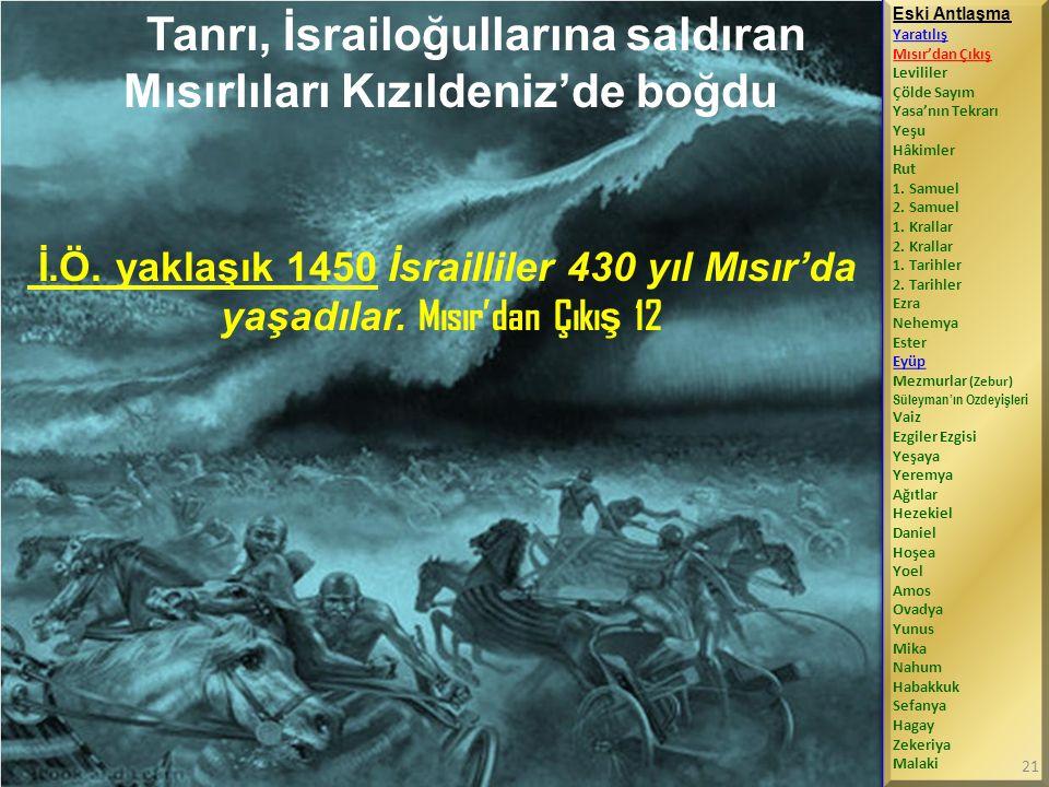 Tanrı, İsrailoğullarına saldıran Mısırlıları Kızıldeniz'de boğdu