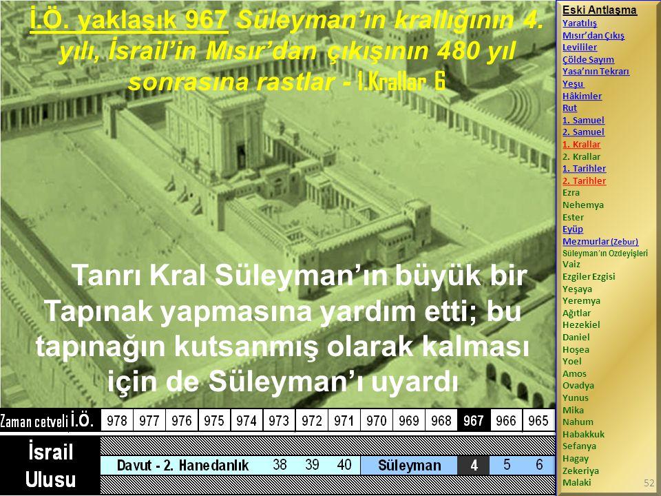 İ. Ö. yaklaşık 967 Süleyman'ın krallığının 4