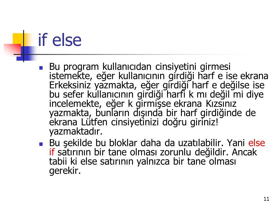 if else
